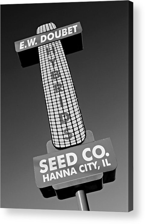 Abstract Acrylic Print featuring the photograph Seed Company Sign 1.1 by Stephen Stookey
