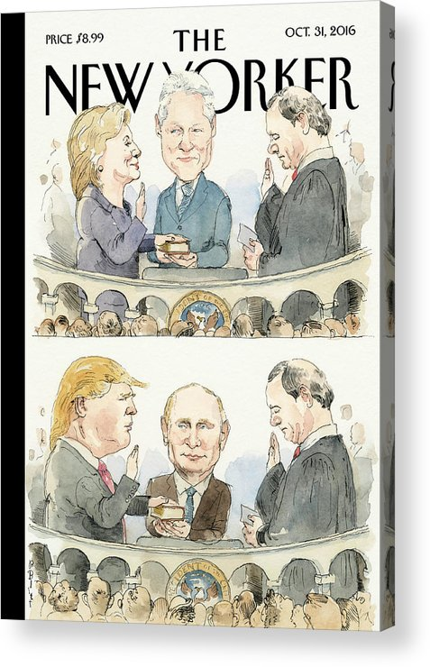 Election 2016 Acrylic Print featuring the painting Significant Others by Barry Blitt
