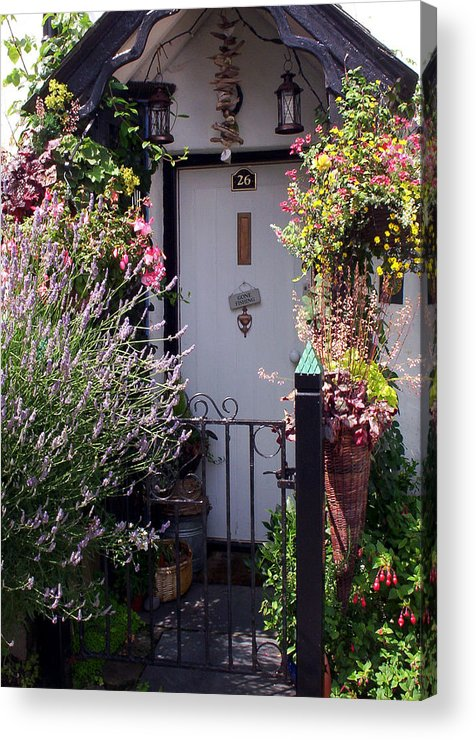 Clovelly Acrylic Print featuring the photograph Summer Flowers Clovelly Devon by Rodger Insh