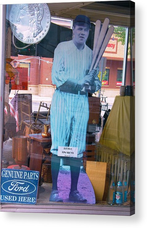 Babe Ruth Acrylic Print featuring the photograph The Babe In The Window by Rory Cubel