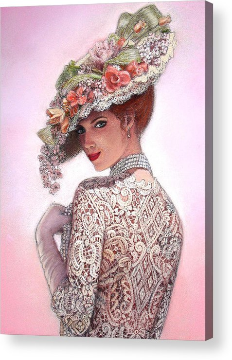 Portrait Acrylic Print featuring the painting The Look Of Love by Sue Halstenberg