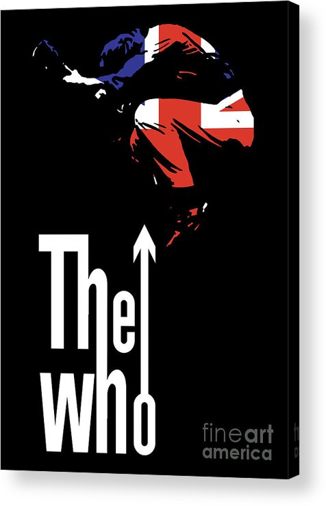The Who Acrylic Print featuring the digital art The Who No.01 by Caio Caldas