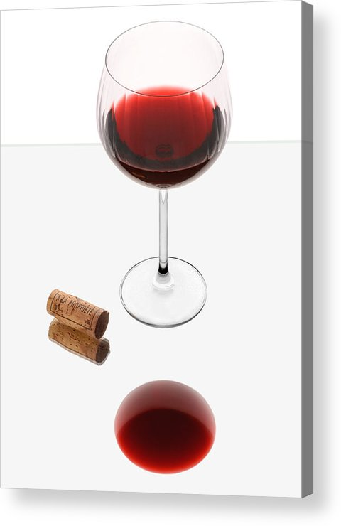 Red Acrylic Print featuring the photograph Vampire Wine Glass by Dennis James