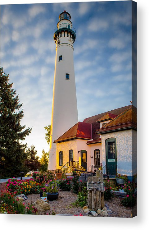 Racine Acrylic Print featuring the photograph Wind Point Lighthouse by Edward Deiro