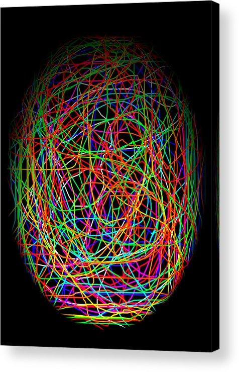 Abstract Acrylic Print featuring the photograph World Web by Aidan Moran