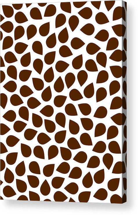 Brown Acrylic Print featuring the painting Brown Abstract by Frank Tschakert