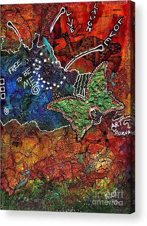 Journal Art Acrylic Print featuring the mixed media Art Therapy by Angela L Walker
