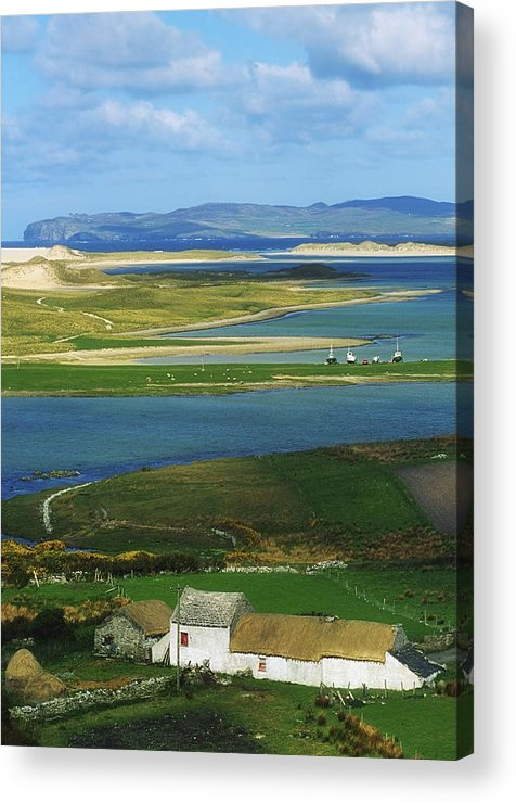 Boat Acrylic Print featuring the photograph Ballyness, Co Donegal, Ireland Aerial by The Irish Image Collection