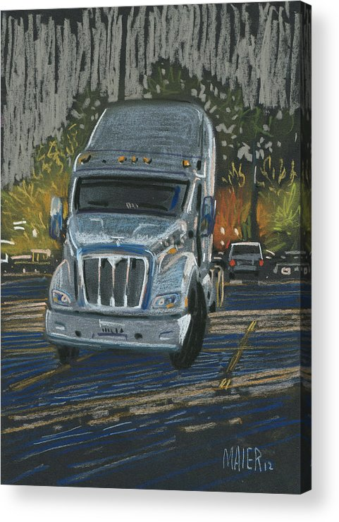 Cab Acrylic Print featuring the drawing Big Fella by Donald Maier