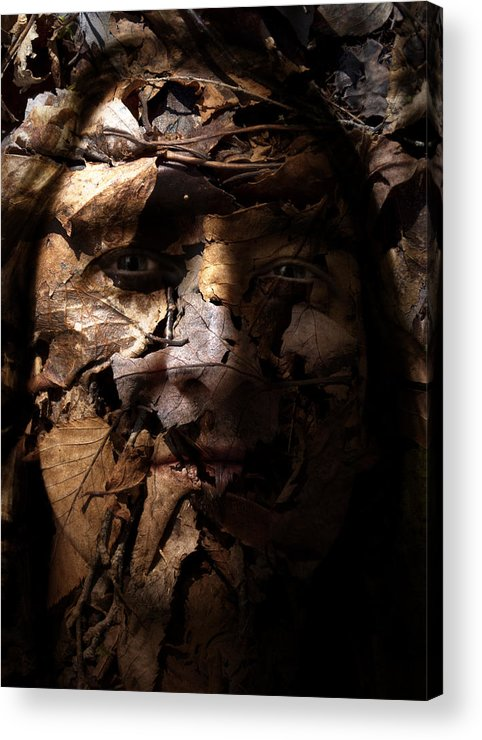 Blend Acrylic Print featuring the painting Blending In by Christopher Gaston