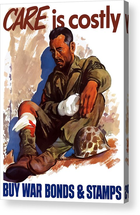 War Bonds Acrylic Print featuring the painting Buy War Bonds And Stamps by War Is Hell Store