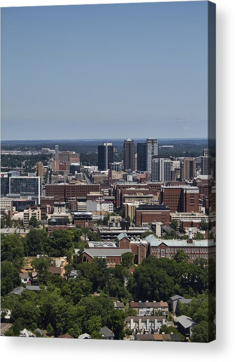 Downtown Acrylic Print featuring the photograph Downtown Birmingham Alabama by Kathy Clark