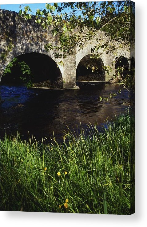Color Image Acrylic Print featuring the photograph Ireland Bridge Over Water by The Irish Image Collection