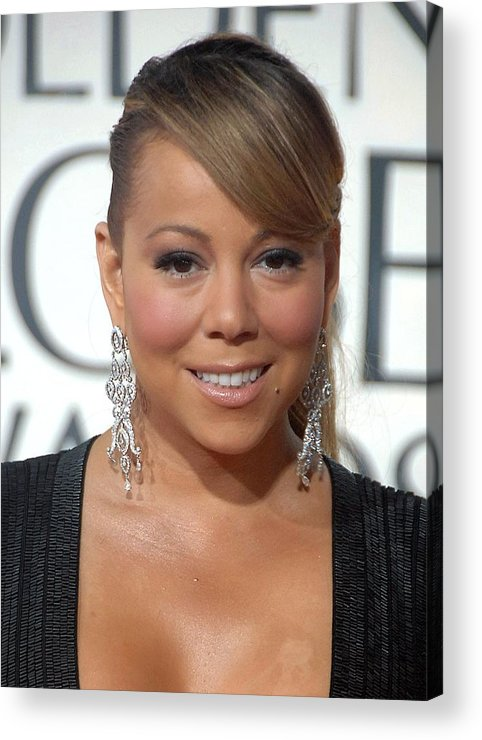 Mariah Carey Acrylic Print featuring the photograph Mariah Carey Wearing Chopard Earrings by Everett