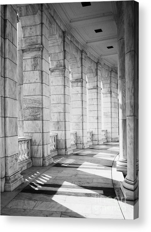 Arlington National Cemetery Acrylic Print featuring the photograph Shadows Of The Unknown by Amy Varner