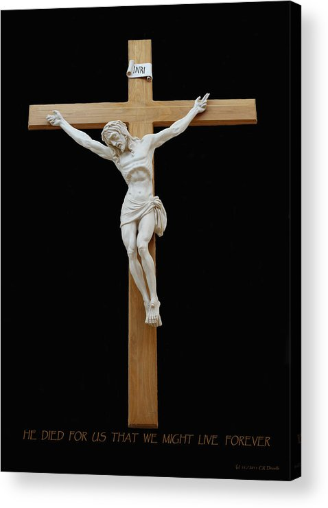 Jesus Acrylic Print featuring the photograph Sjncc Crucifix 1 Two K Eleven by Carl Deaville