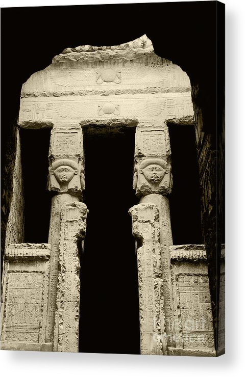 Temple Acrylic Print featuring the photograph Temple Of Hathor by Photo Researchers, Inc.