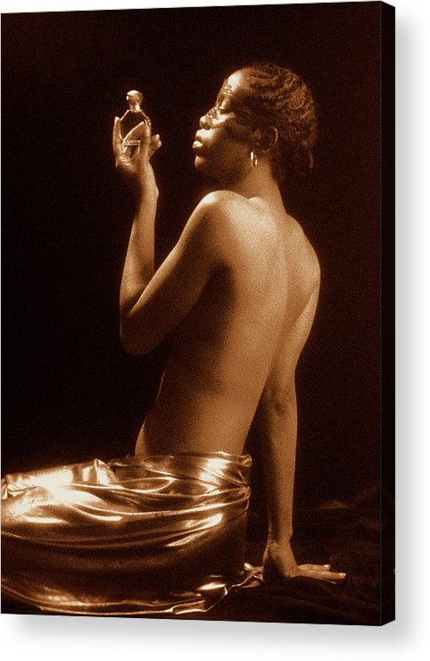 Erotic Fine Art Acrylic Print featuring the photograph The Perfume Bottle by Stuart Brown