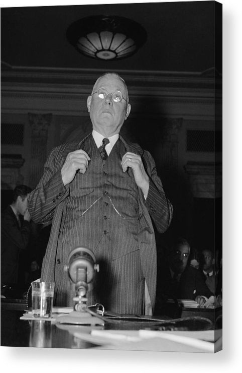 History Acrylic Print featuring the photograph William Green 1873-1952, President by Everett