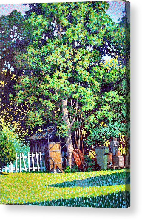Landscape Acrylic Print featuring the painting Hackberry Tree by Kevin Lawrence Leveque