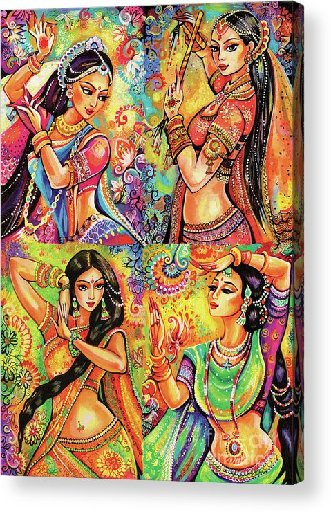Bollywood Dancer Acrylic Print featuring the painting Magic Of Dance by Eva Campbell