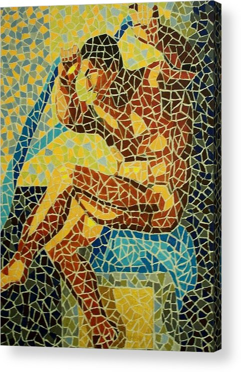 Mosaic Acrylic Print featuring the painting Marcus by Mats Eriksson