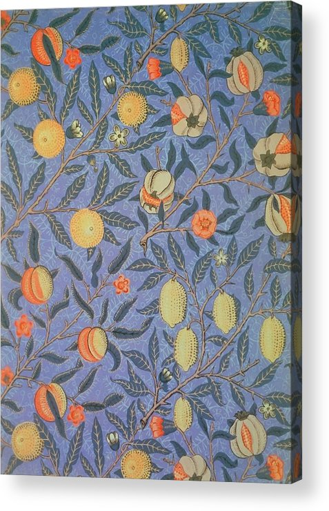 Artistic Acrylic Print featuring the painting Pomegranate by William Morris