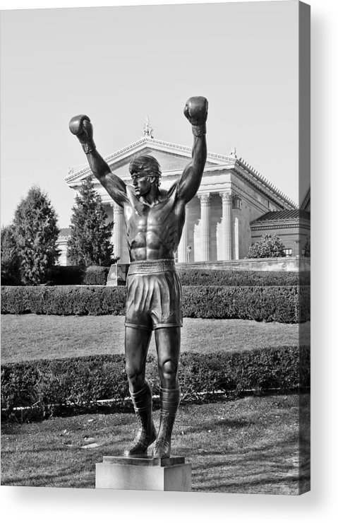 rocky Statue Acrylic Print featuring the photograph Rocky Statue - Philadelphia by Brendan Reals