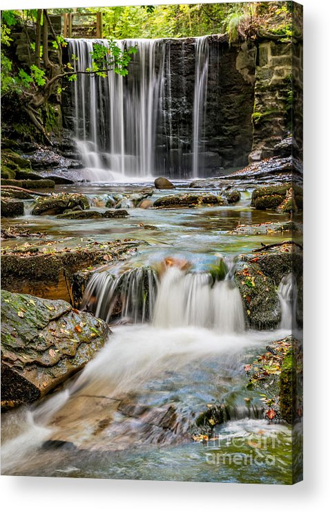 Water Acrylic Print featuring the photograph Welsh Waterfall by Adrian Evans