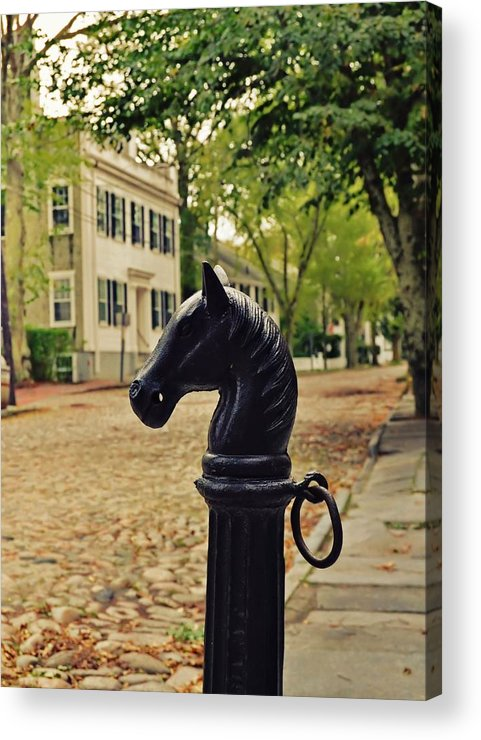 Nantucket Acrylic Print featuring the photograph Nantucket Hitching Post by JAMART Photography