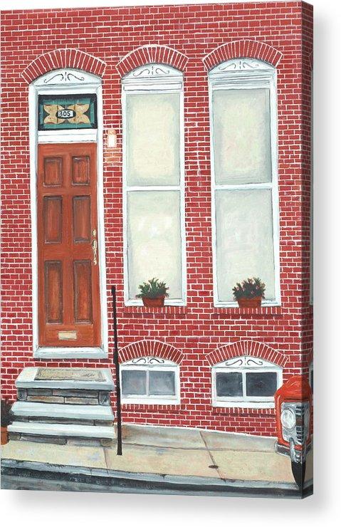 Hamburg Street Acrylic Print featuring the painting 305 Hamburg by John Schuller
