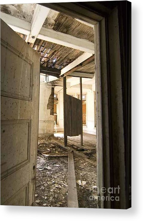 Preston Castle Acrylic Print featuring the photograph 3rd Floor Door And Ruined Room by Norman Andrus