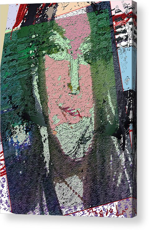 Portrait Acrylic Print featuring the drawing 4 Seasons by Noredin Morgan