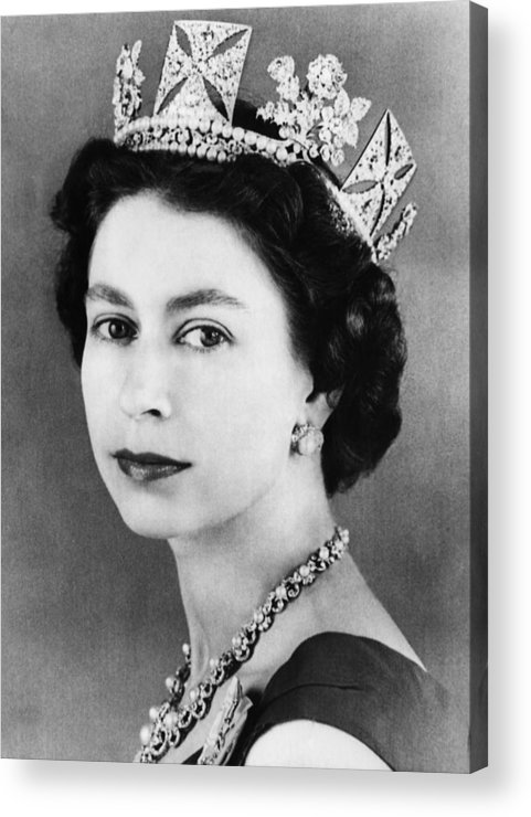 1950s Acrylic Print featuring the photograph British Royalty. Queen Elizabeth II by Everett