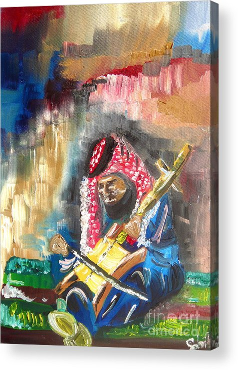 Bedouin Acrylic Print featuring the painting A Bedouin Life by Sabrina Phillips