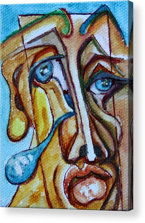 Abstract Portrait Acrylic Print featuring the painting A Cast Of Characters Nine by Dan Earle
