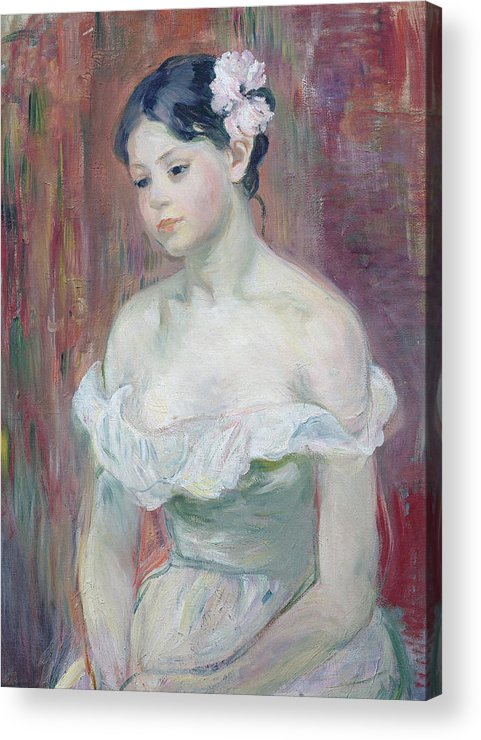 Young Acrylic Print featuring the painting A Young Girl by Berthe Morisot
