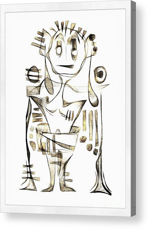 Abstraction Acrylic Print featuring the digital art Abstraction 2043 by Marek Lutek