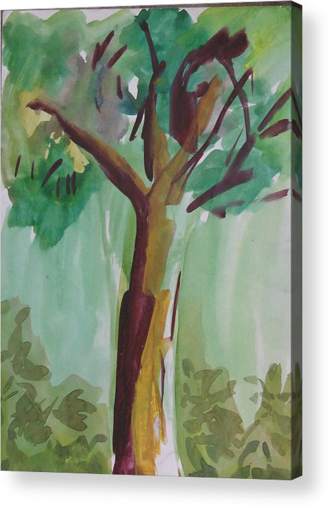 Tree Acrylic Print featuring the painting Aimless by Panditjeeartgallery