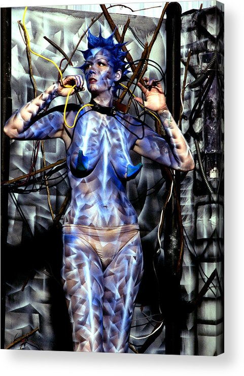 Body Paint Acrylic Print featuring the painting Alive by Leigh Odom