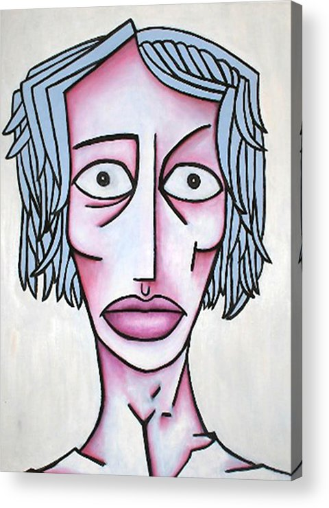 Potrait Acrylic Print featuring the painting amy by Thomas Valentine
