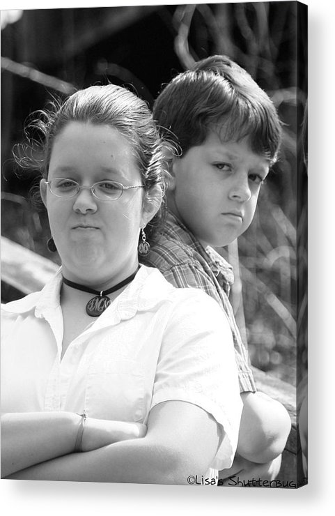 Acrylic Print featuring the photograph Angry Two by Lisa Johnston