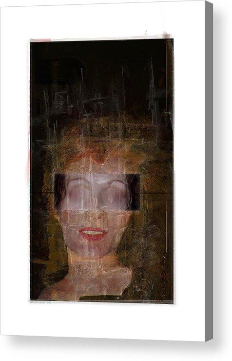 Portrait Acrylic Print featuring the digital art Ann Hos by Nuff