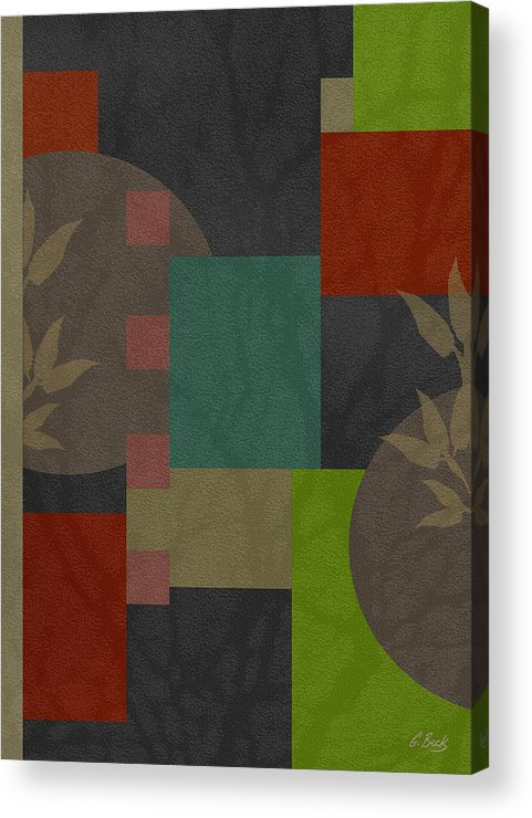 Contemporary Abstract Design Asian Gordon Beck Art Acrylic Print featuring the painting At Peace by Gordon Beck