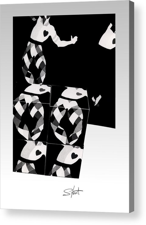 Dance Acrylic Print featuring the photograph Bauhaus Ballet 2 The Cubist Harlequin by Charles Stuart