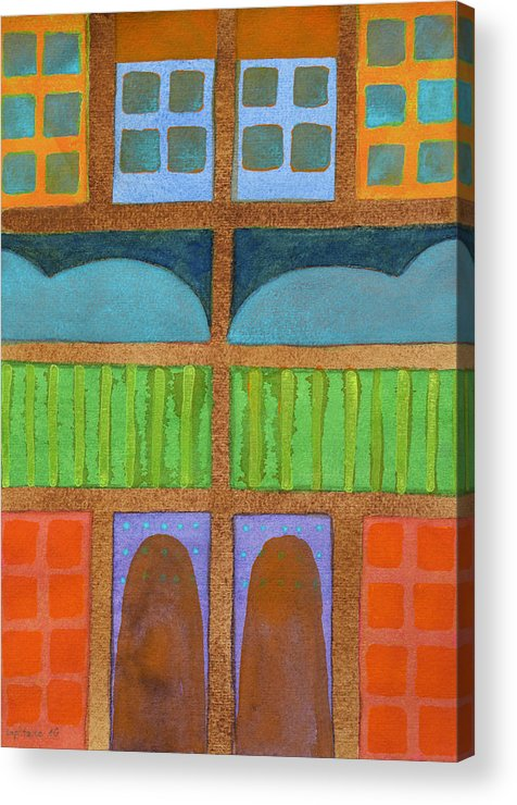 Abstract Acrylic Print featuring the painting Bedtime by Heidi Capitaine