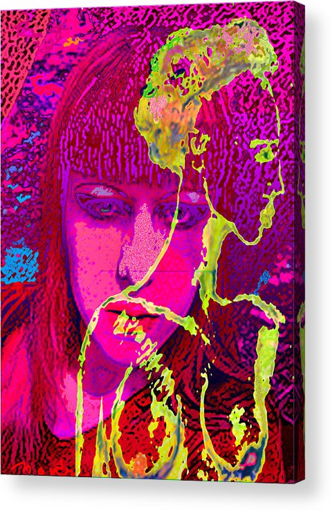 Human Composition Acrylic Print featuring the painting Behind Reality by Noredin Morgan