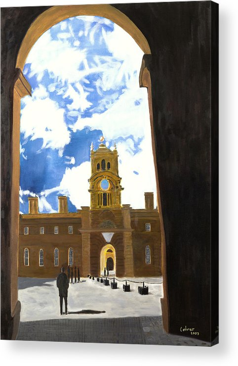 Churchill Acrylic Print featuring the painting Blenheim Palace England by Avi Lehrer