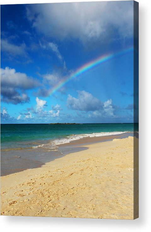 Rainbow Acrylic Print featuring the photograph Blessed With A Rainbow by Kerri Ligatich