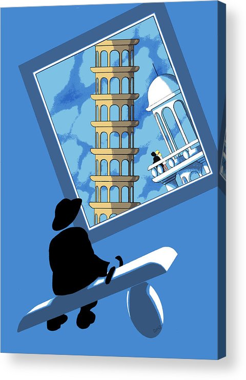Dkzn Acrylic Print featuring the digital art Blue Arthur by Tom Dickson